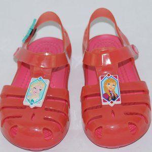 Crocs Girls Frozen Elsa & Anna Sandals Pink Size 9